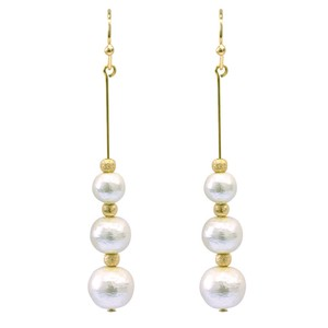 7mm 8mm Cotton Pearl Pierced Earring