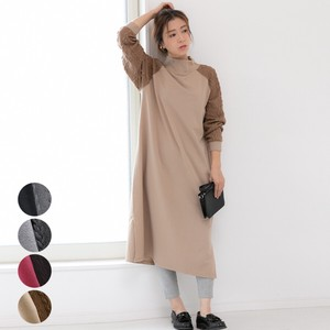 [2019NewItem] High Neck Cable Switching One-piece Dress mitis