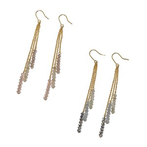 3 Colors Beads Pierced Earring