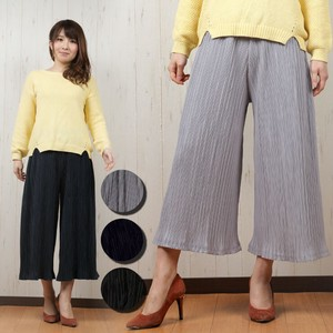 Pleats Specification Waist Accordion Pleats Gaucho Pants Ladies