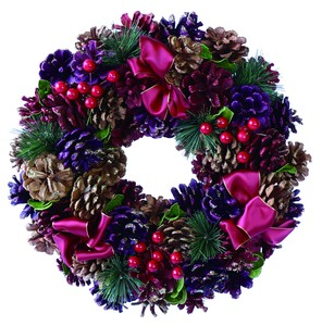 【2019Christmas】3color Pinecone Ribbon Wreath