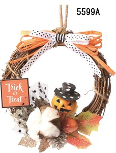 Halloween Cotton Wreath