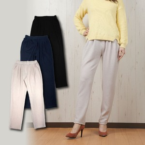 Soft Thigh Waist Made Crape Tapered Pants