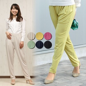 Soft Fit Waist Semi-formal Color Tapered Pants