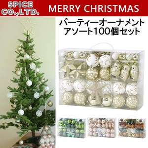 Christmas Items Party Ornament Assort 100 Pcs Set