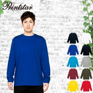Plain Long Sleeve Cotton T-shirt Men's