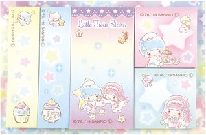 Sanrio Pouch Sticky Note Little Twin Star Glitter