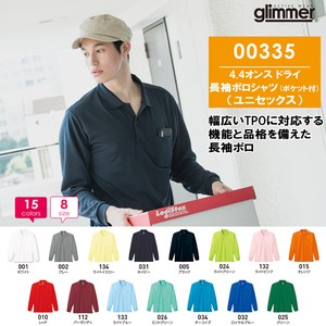 Plain Long Sleeve Dry Polo Shirt Pocket Unisex