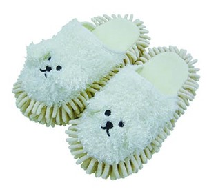 Bichon Friese Mop-style Slipper