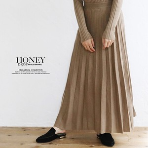 A/W Pleats Knitted Skirt
