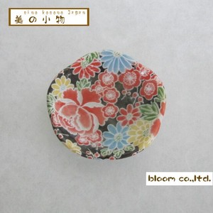 Flower Shape Chopstick Mini Dish Four Seasons Yuzen Incense stand Plate box Mino Ware AP