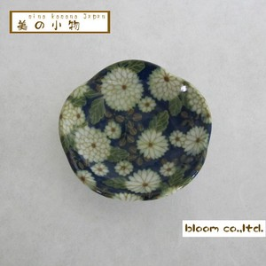 Flower Shape Chopstick Mini Dish Chrysanthemum Incense stand Plate box Mino Ware AP
