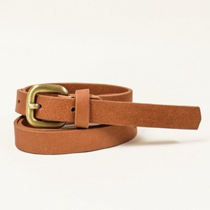 Cow Leather Belt One Sheet Vegetable Genuine Leather Camel