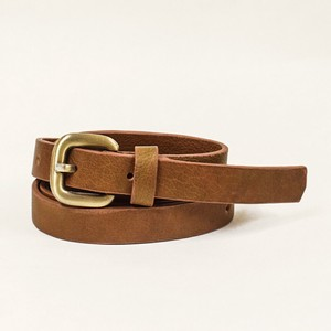 Cow Leather Belt One Sheet Vegetable Genuine Leather Brown