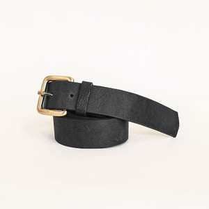 Cow Leather Belt Black One Sheet Vegetable Genuine Leather Black