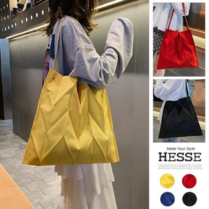 4 Colors Bag Handle Pleats Decoration Shoulder Bag