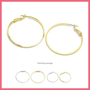 Notch Hoop Pierced Earring