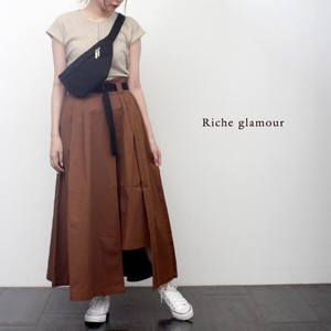 Twill Belt Attached Flare Skirt