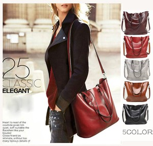 Shoulder Leather Bag Commuting Going To School A4 Handbag Diagonally Leather Bag