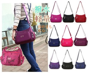 Water-Repellent Light-Weight Shoulder Bag Pocket Trip Pattern Color