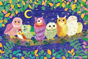 Postcard Line Up Owl