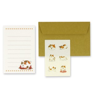 Cat Japanese Paper Writing Papers & Envelope Mike Cat Letter Paper Set