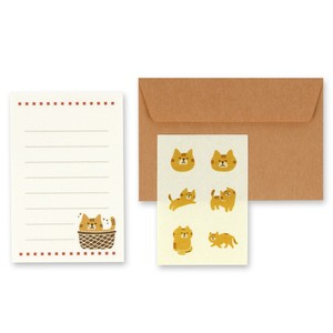 Cat Japanese Paper Writing Papers & Envelope Letter Paper Set