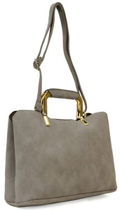 Mat Synthetic Leather Middle Tote