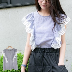 Stripe Frill Top