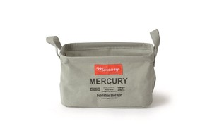 Mercury Canvas Rectangle Box Gray