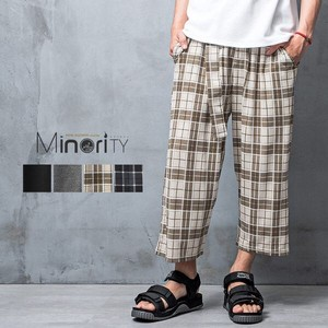 S/S Belt Attached Three-Quarter Length wide pants