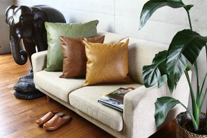 Leather Cushion Cover Handsome