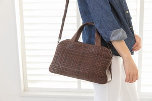 Mesh Bag Handbag Genuine Leather