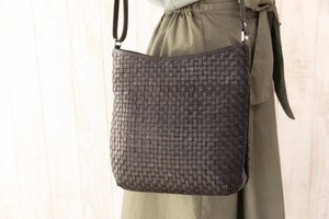 Mesh Bag Shoulder Bag Genuine Leather
