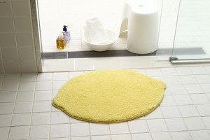 Micro fiber Deformation Mat Lemon Entrance Toilet Mat Washable