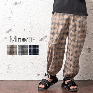 S/S Checkered wide pants