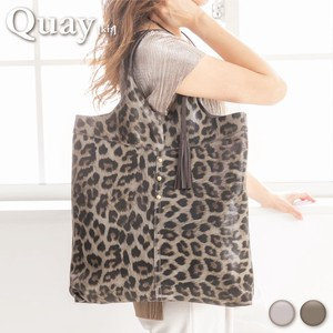 Cow Leather Tote Bag Leopard