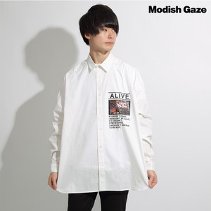 A/W Long Sleeve Big Silhouette Blow Shirt Photo