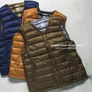 Unisex High Density Nylon V-neck Down Vest