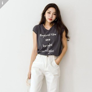 Ring U-neck Top T-shirt