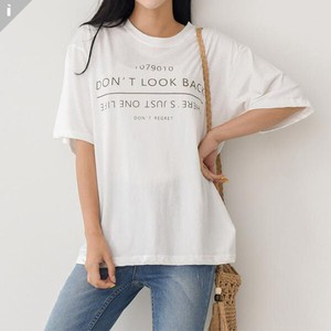 Ring Short Sleeve U-neck Top T-shirt