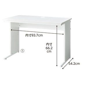 Work Stand Wooden Desk White