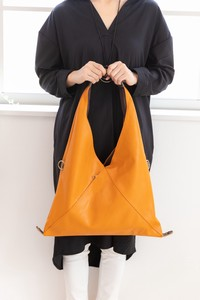Triangle Bag Synthetic Leather Cow Leather