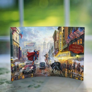 【日本初上陸】【シールドアート】DC Comic★Thomas Kinkade (Batman Superman and Wonder Woman)