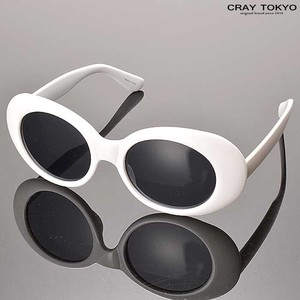 Cell Frame Oval Sunglass White
