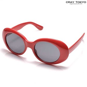 Cell Frame Oval Sunglass Red