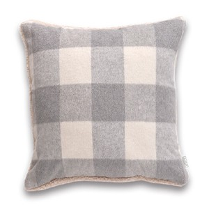 Cushion Cover Checkered Gray