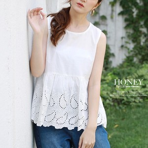 S/S Wrap Embroidery Plum Top