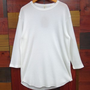 A/W Round Waffle Three-Quarter Length T-shirt T-shirt