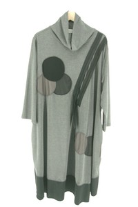Late Summer Early Autumn Cut And Sewn Fabric Material Switch Long Tunic